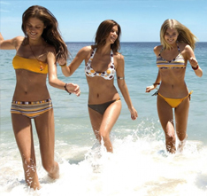 pretty girls on beach