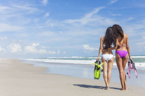 Punta Cana escorts on beach in the DR