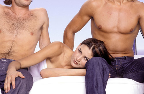 MMF threesome in bed together