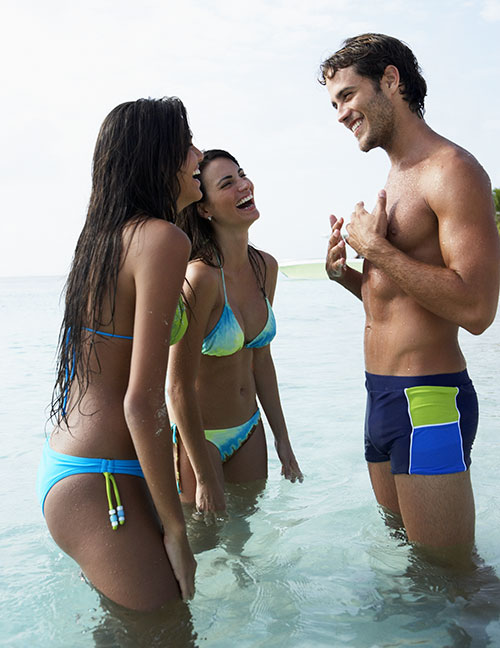 Three people enjoying sex holidays in Dominican Republic